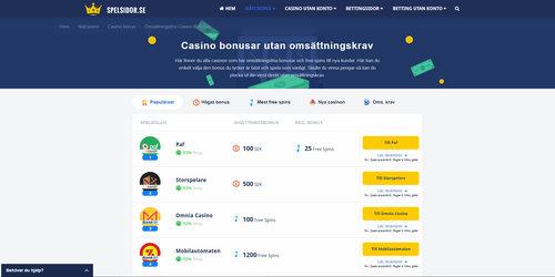 Casino utan omsättningskrav - 26011