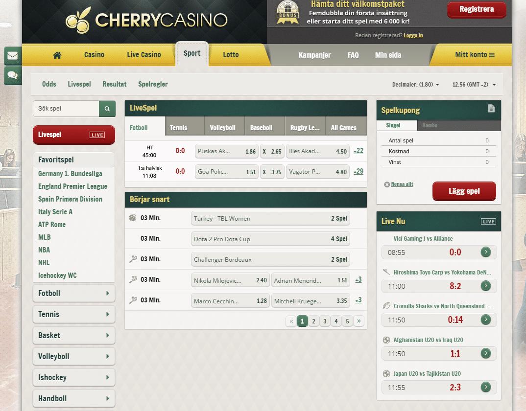 Cherry casino välkomstbonus - 6505
