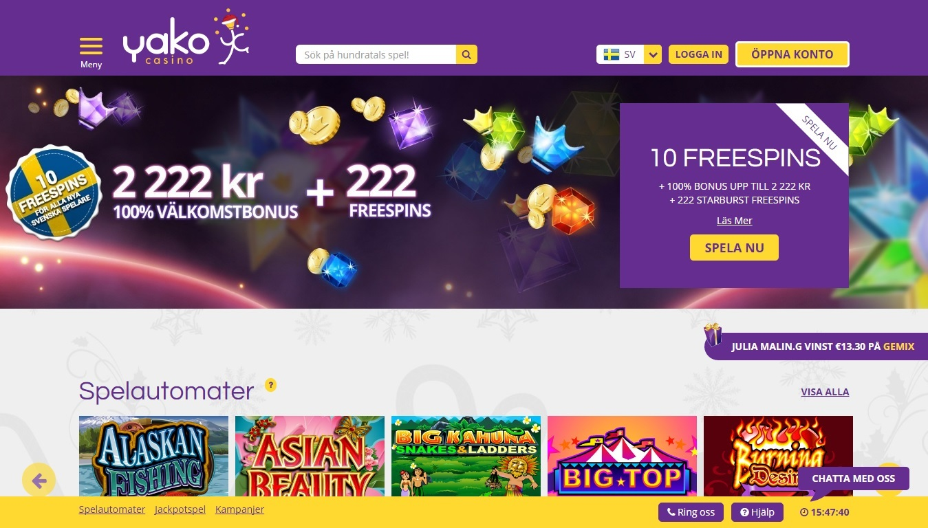 Casino med flest - 8026