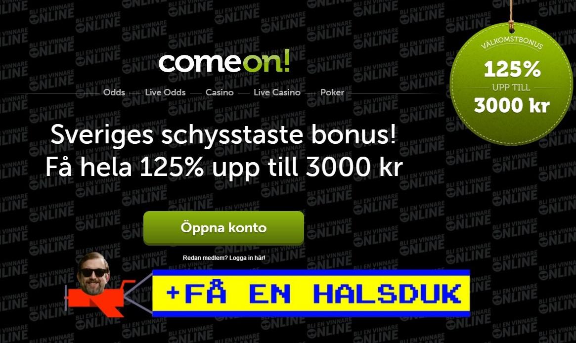 Comeon gäst - 7722