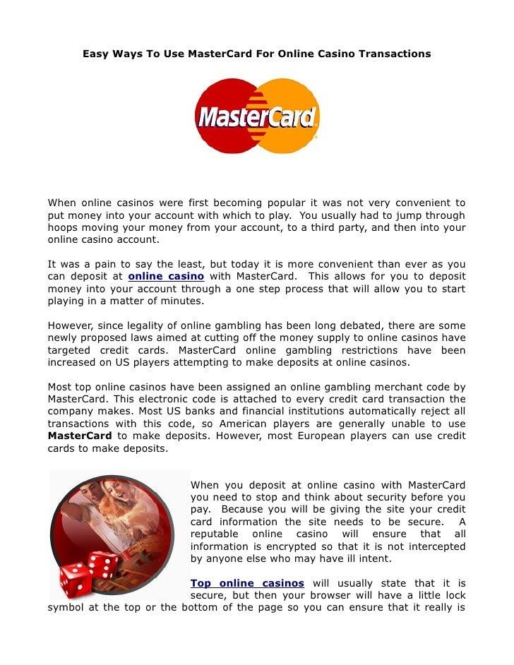 Mastercard casino - 4936