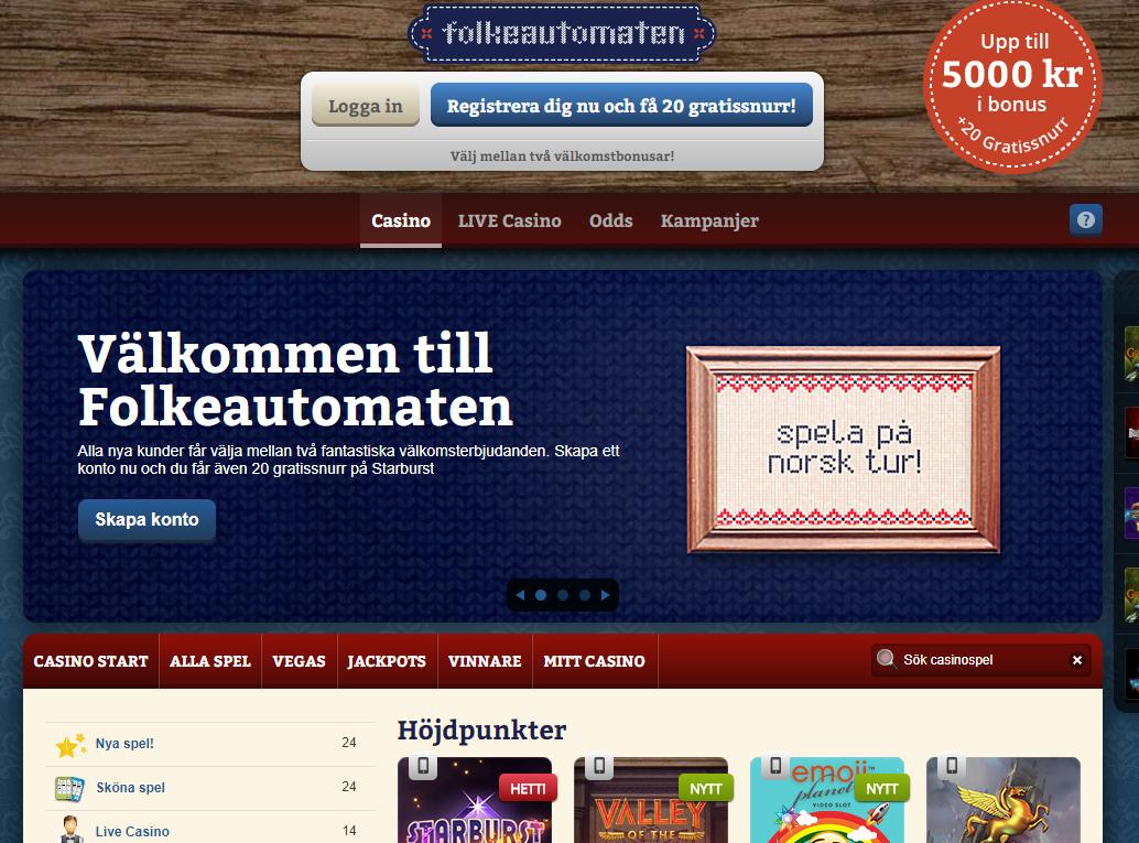 Svensk kundtjänst Folkeautomaten - 28108